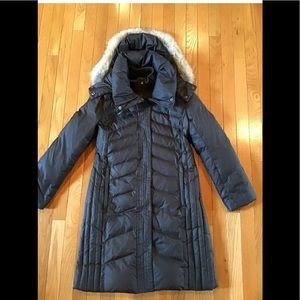 ANDREW MARC NEW YORK DOWN PARKA COAT GENUINE FUR M